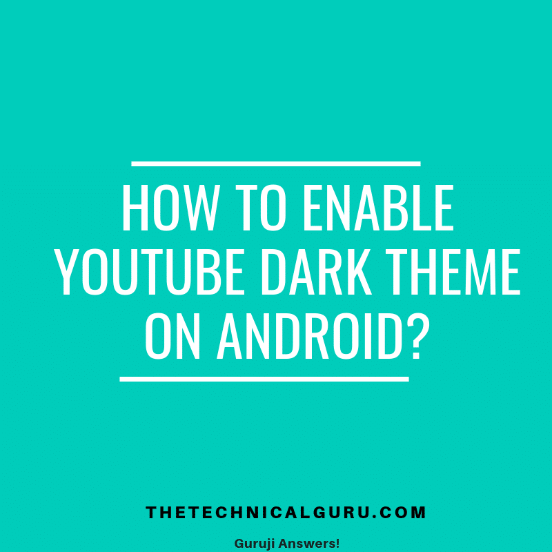 youtube Dark Theme for android