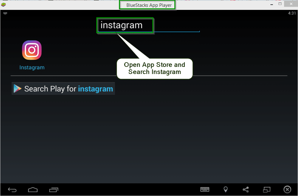 Post to Instagram from pc using BlueStacks app