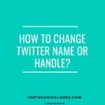how to change twitter username