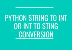 python int to string