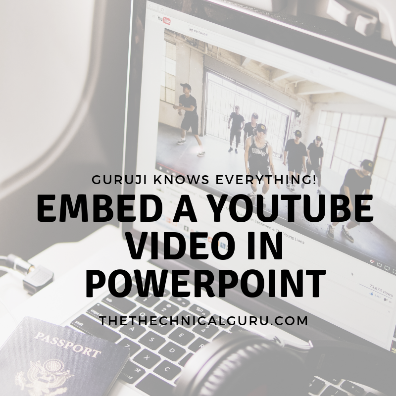 how to embed youtube video in powerpoint