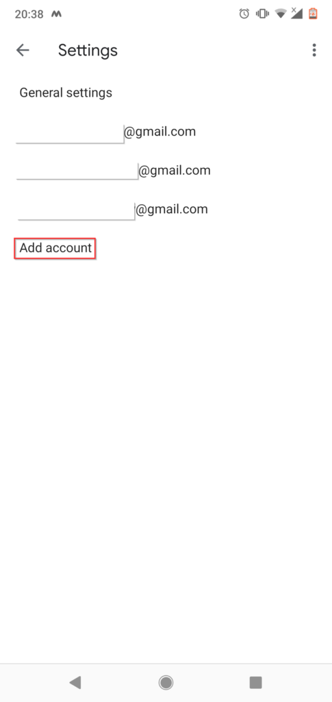 How to change gmail password on android