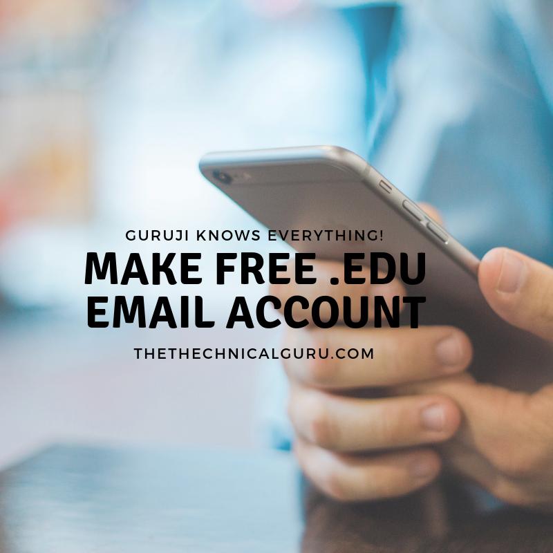 How To Make Free  edu Email Address - The Technical Guru