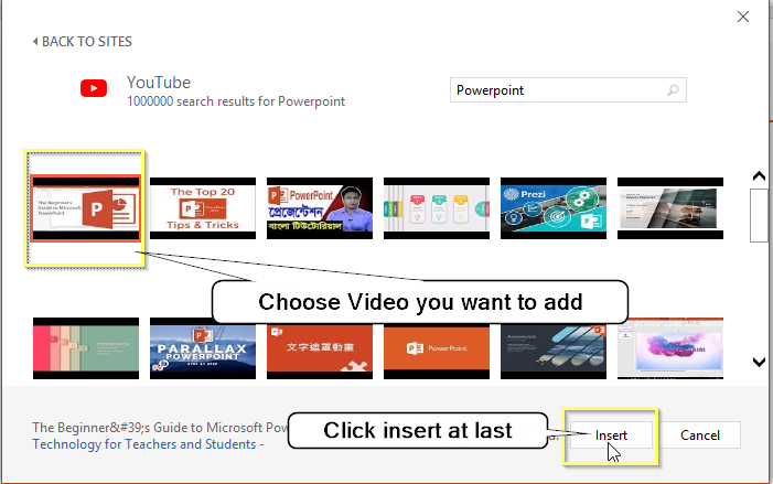 embed a youtube video in powerpoint