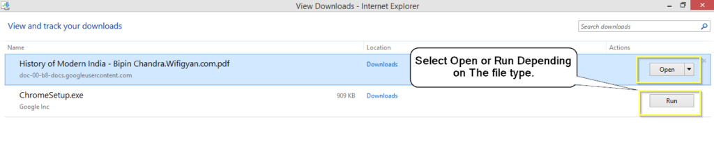 downloads in internet explorer